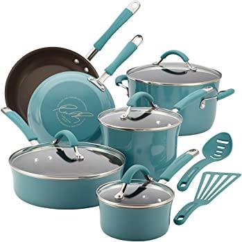 Rachael Ray 16344 Cucina Nonstick Cookware Pots and Pans Set