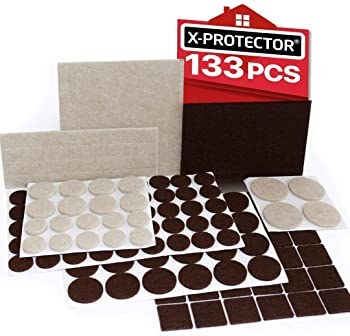 X-PROTECTOR Premium Two Colors Pack Furniture Pads